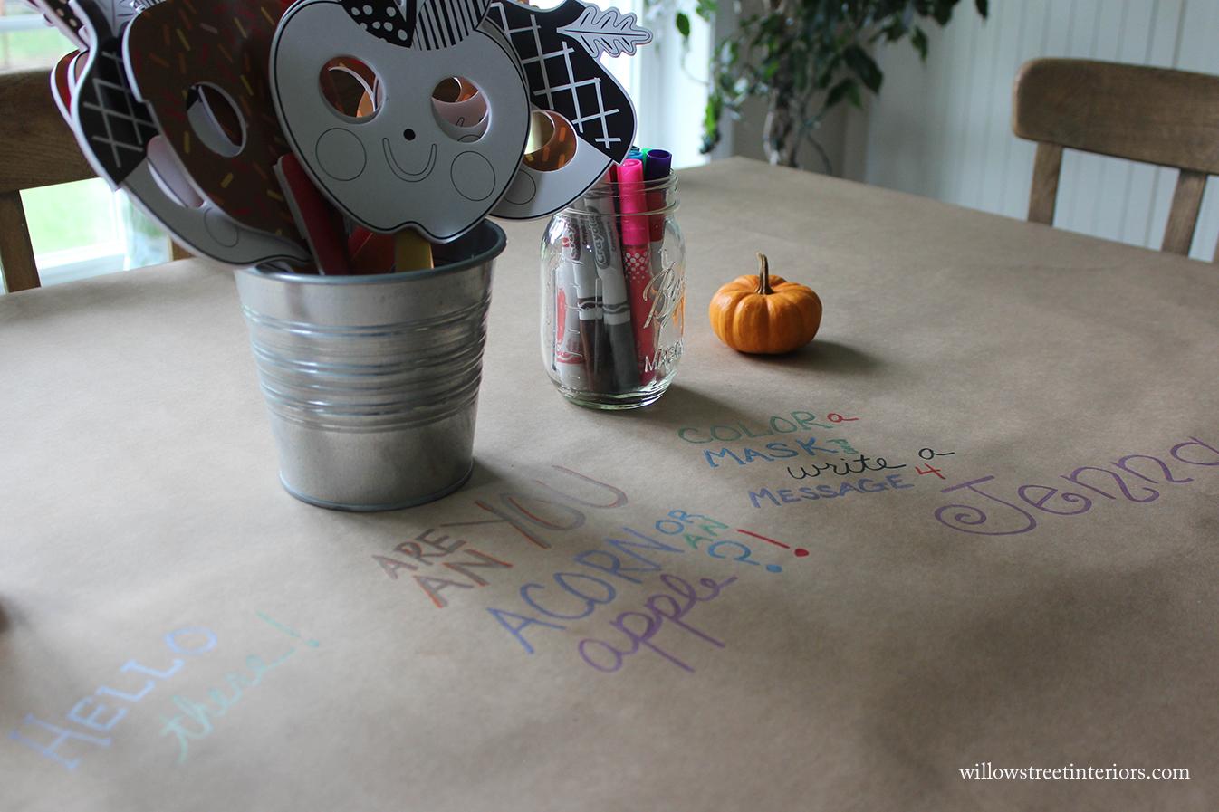 Indoor Fall Birthday Party Fun