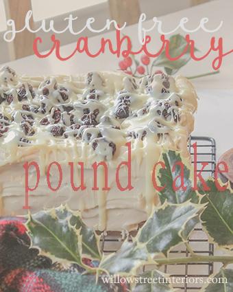 gluten free cranberry pound cake