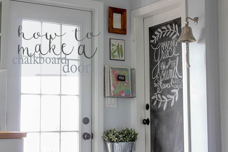 Antigue Door Chalkboard : Door chalkboard diy vintage tutorial