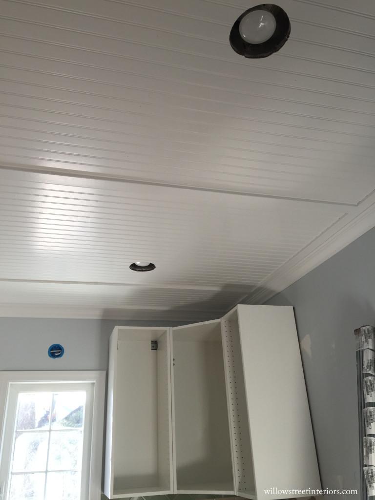 kitchen ceiling in progress