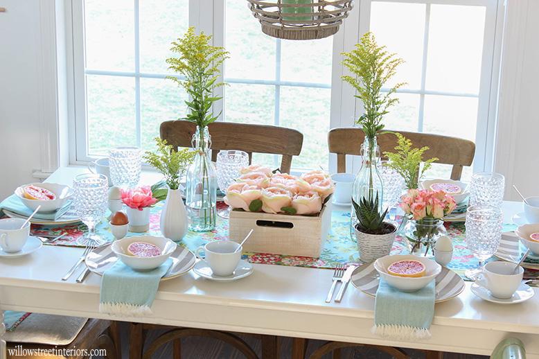 a spring tablescape