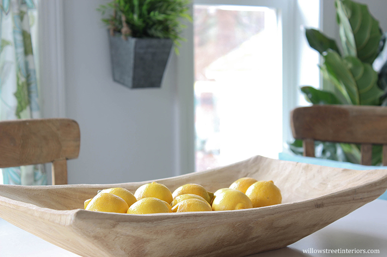 bowl with lemon