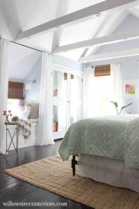 bedroom through entryway