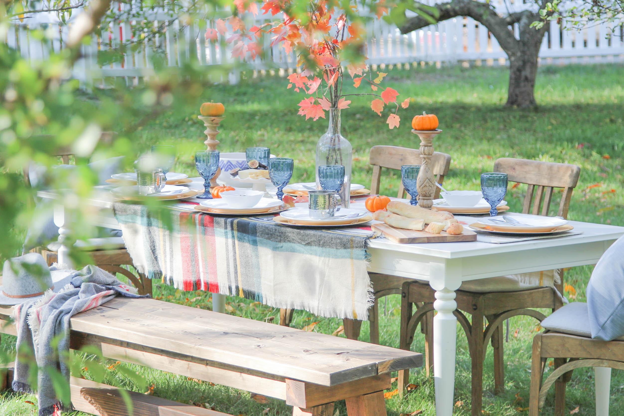 cozy autumn table