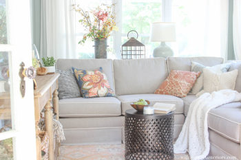 Cozy Fall Sunroom Reveal {Part 2}