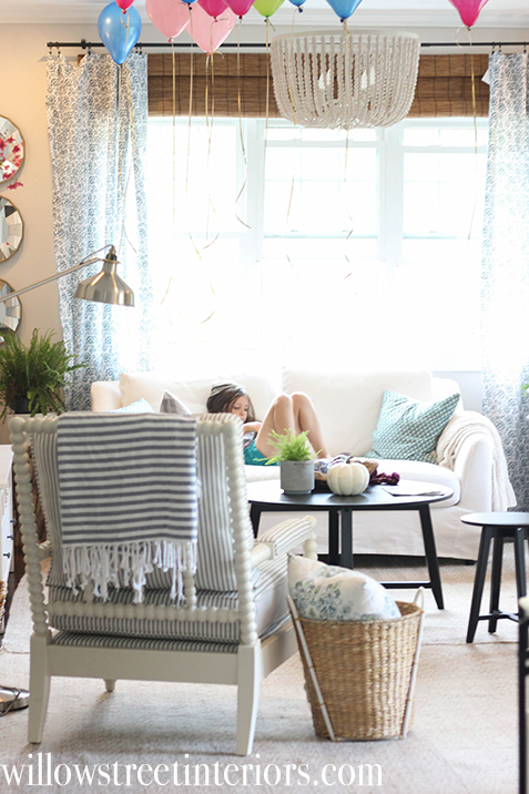 living room spool chair | willow street interiors