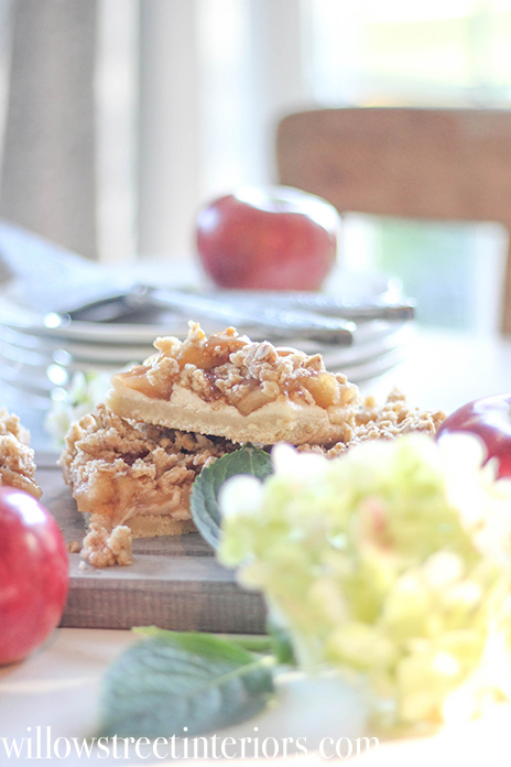 apple cheesecake bars | willow street interiors