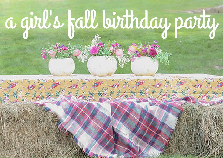 Simple + Sweet Fall Birthday Party