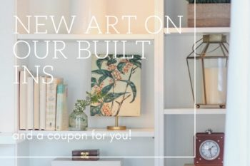 New Art on Our Bookshelves {And a 75% Off Coupon Code!}