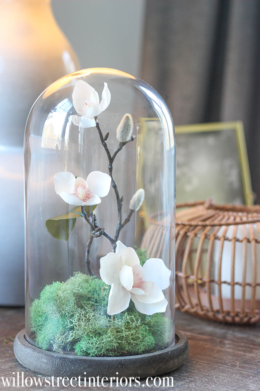 how to make this bell jar arrangement