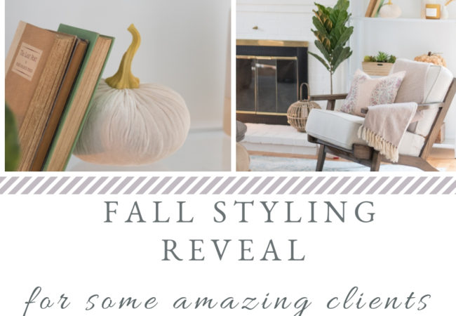 Fall Styling Reveal {for some amazing clients}
