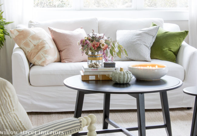 Our Fall Living Room {Seasonal Simplicity Series}