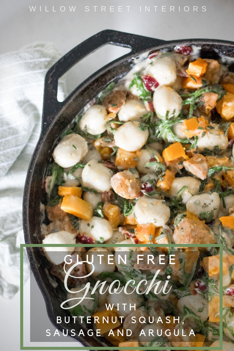 Gluten Free Butternut Squash, Sausage and Arugula Recipe