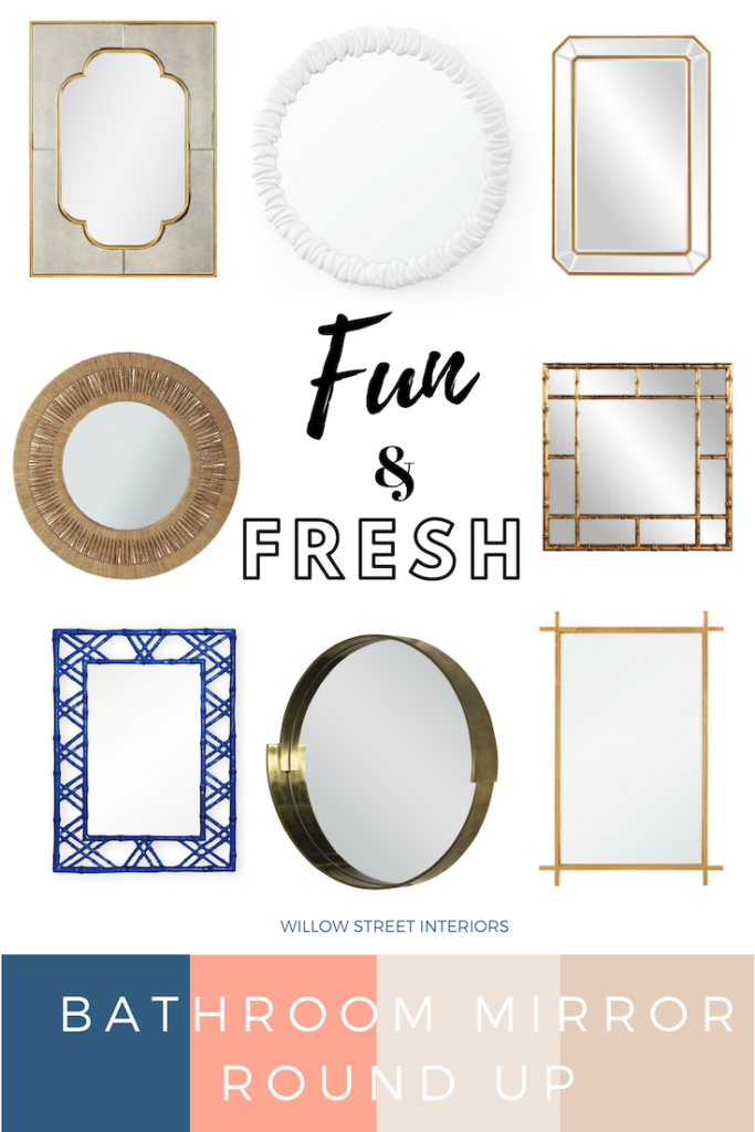Pretty Bathroom Mirrors from High Point Market Round Up